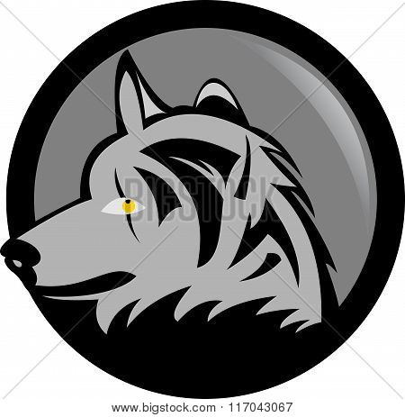 stock logo dark wolf