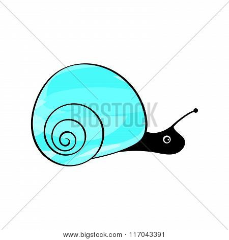 Funny snail animals mollusks