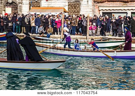 Opening Carnival Procession At Venice, Italy 10