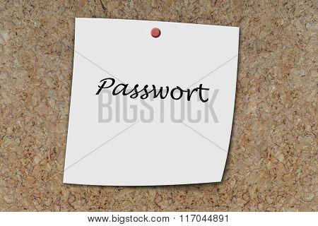 Passwort Written On A Memo