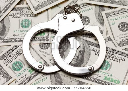 Handcuffs On Dollar Currency