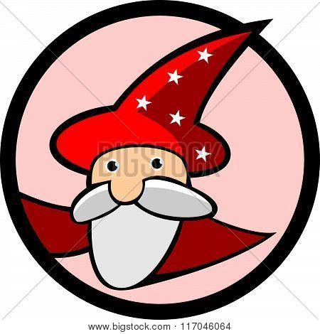 stock logo old magician
