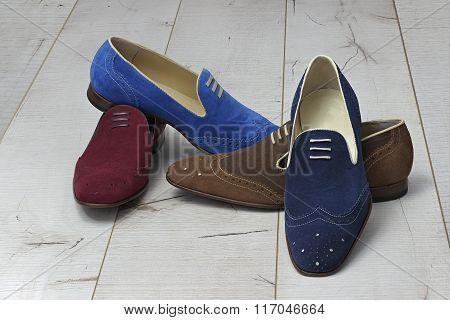 Summer leather men's shoes