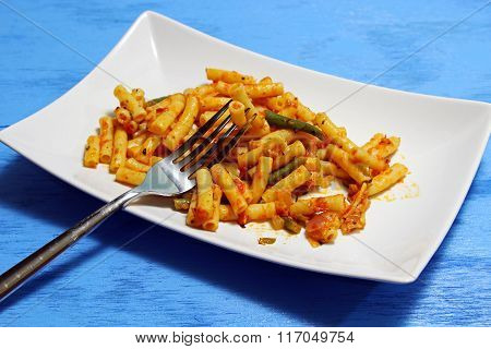 Plated pasta