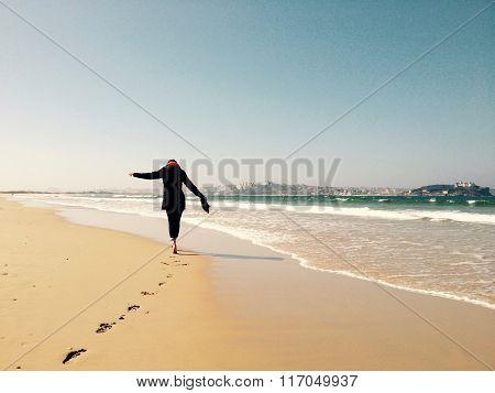 Walking around the beach