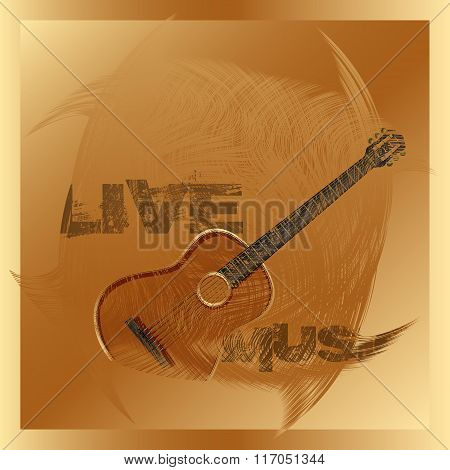 Live Music Guitar Gold