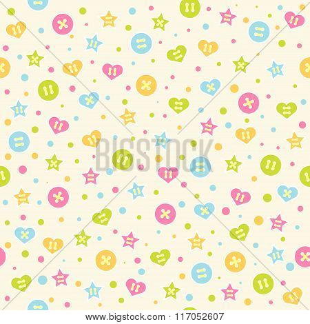 Seamless baby pattern.