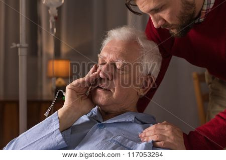 Son Caring About Dying Father