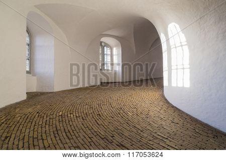 Spiral ramp of the round tower in Copenhagen