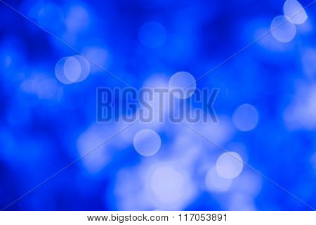 Abstract Blur Blue  Ligth Christmas Technology  Background