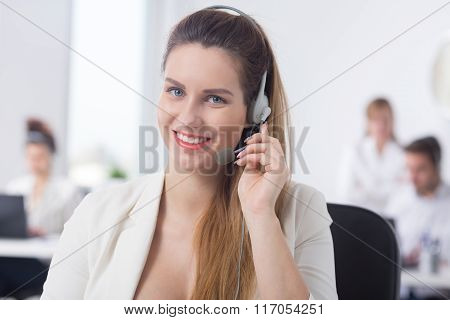 Pregnant Telemarketer During Work