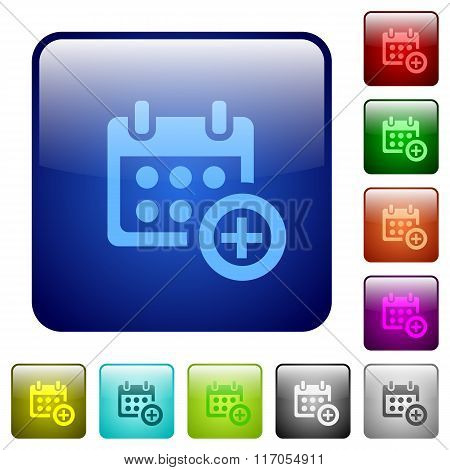 Color Add To Calendar Square Buttons