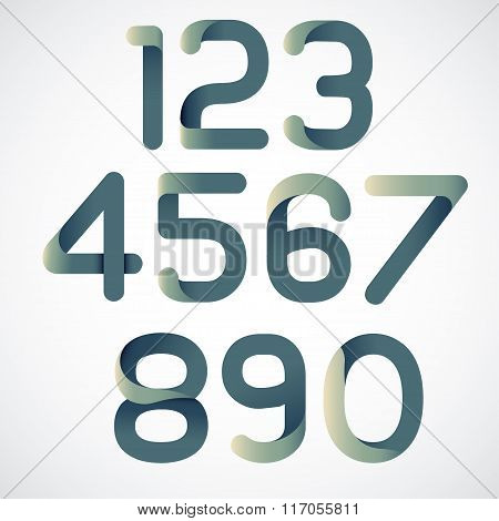 Vector abstract set of numbers