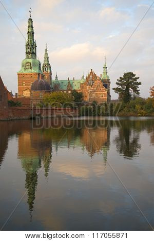 Evening at Frederiksborg castle. Denmark