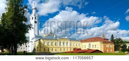 Clock Tower And Church Novgorod