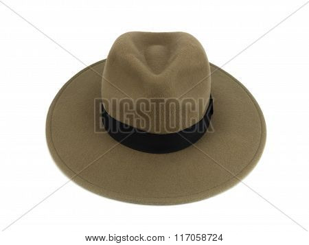 Brown Hat Isolated On White Background Clipping Path