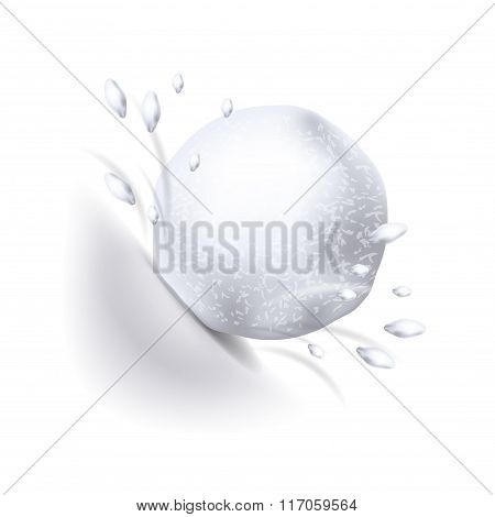 Snowball Isolated On White Vector