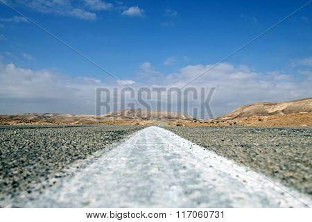 Road Through The Negev Desert