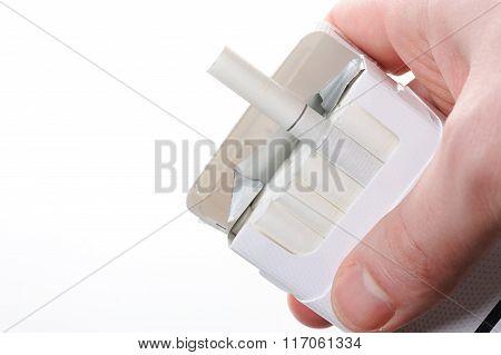 Cigarette Box In Hand