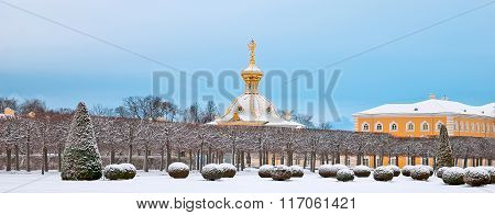 Peterhof. Russia. The Armorial Block
