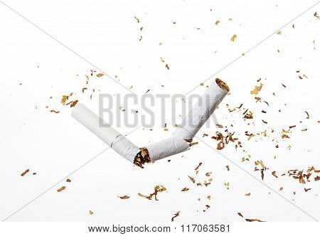 Broken On Half Cigarette