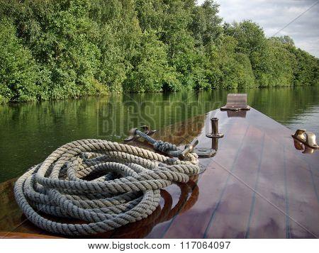 Boat on Norfolk Broads