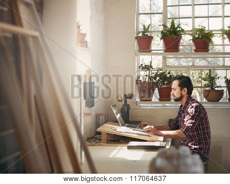 Designer working in a creative office space