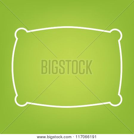 Pillow line icon