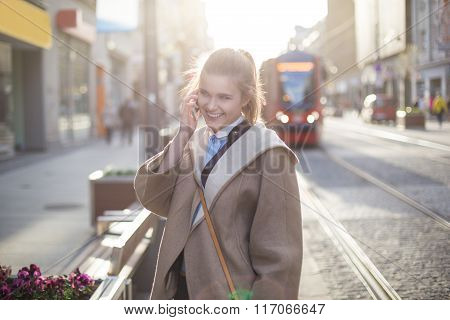 Phone Call On The Street
