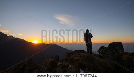 Man On The Top Of A Rock