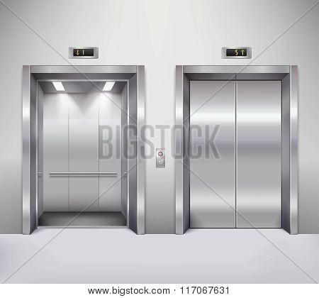 Elevator door illustration