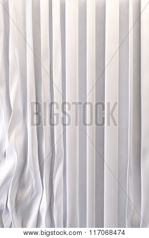 White silk curtains background