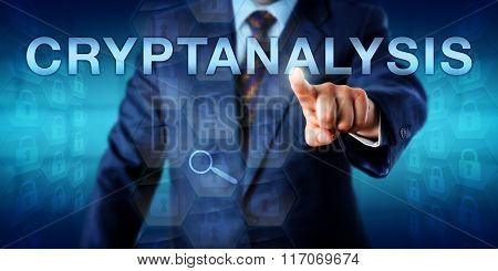 Cryptanalyst Touching Cryptanalysis Onscreen