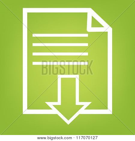 File download line icon