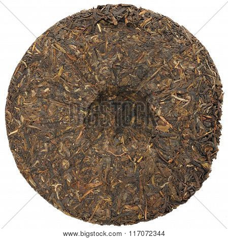 Sheng Puerh Cake Isolated On White