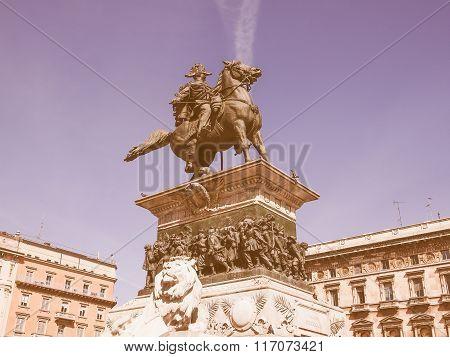Vittorio Emanuele Ii Monument In Milan Vintage