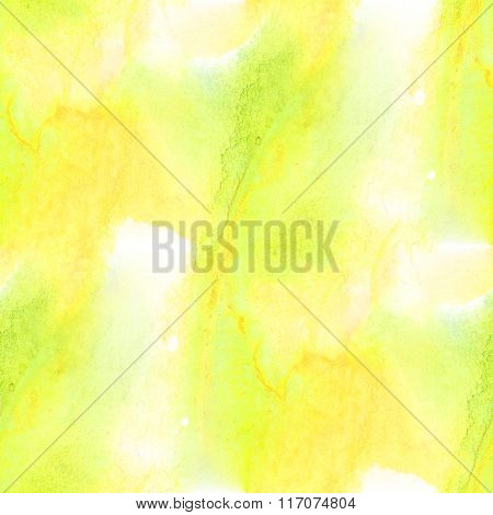 seamless watercolor background abstract texture art pattern, water paper green yellow wallpaper desi