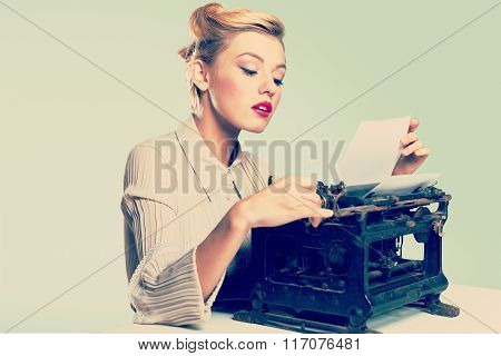 Retro typewriter.
