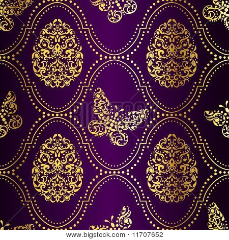 Gold And Purple Background