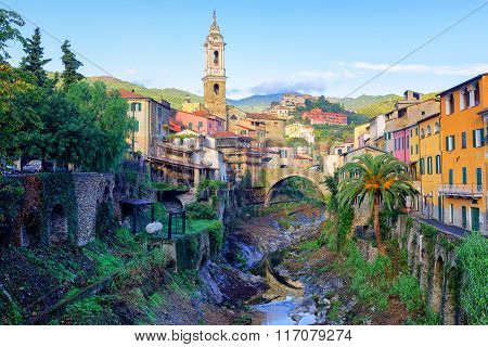 Dolcedo, Small Italian Town In The Maritime Alps, Liguria, Italy