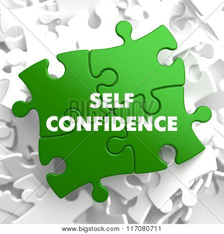 Self Confidence on Green Puzzle.