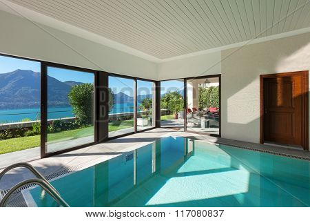 Architecture, house with garden, Indoor swimming pool