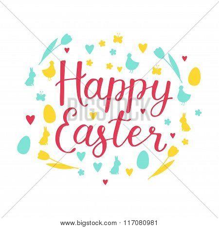 Happy Easter Design Elements