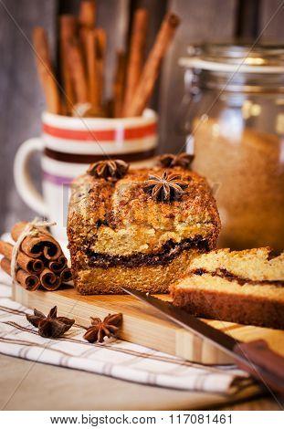 Homemade Cinnamon Loaf Cake