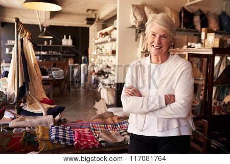 Portrait Of Senior Female Owner Of Gift Store