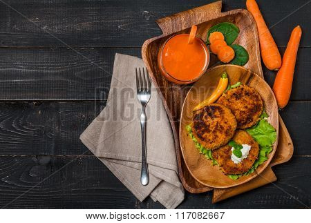 Healthy Vegetarian Carrots Cutlets