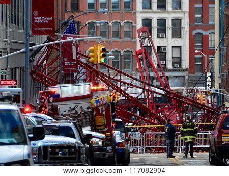 New York City Crane collapse