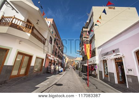 Candelaria. Famous touristic town in Tenerife Canary islands Spain.