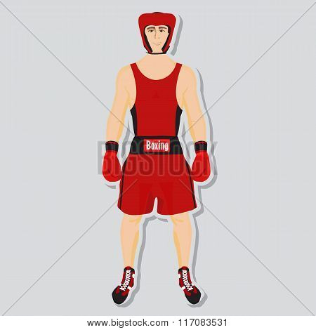 Vector boxing fighter
