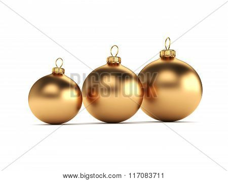 Gold Christmas Ball